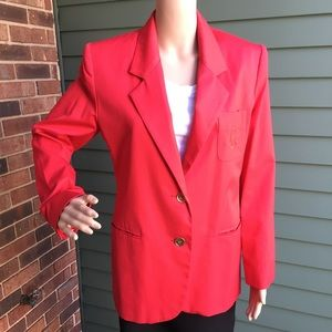 Vintage Red Talbots Women's Blazer